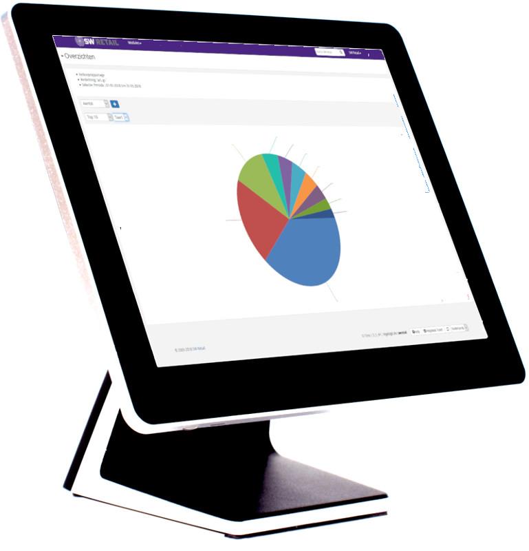 touchscreen pc met productinformatie