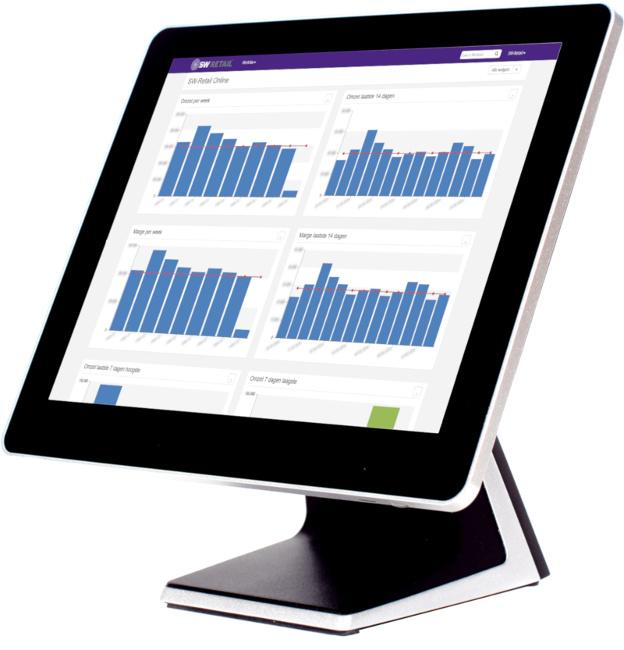 dashboard kassasysteem op touchscreen