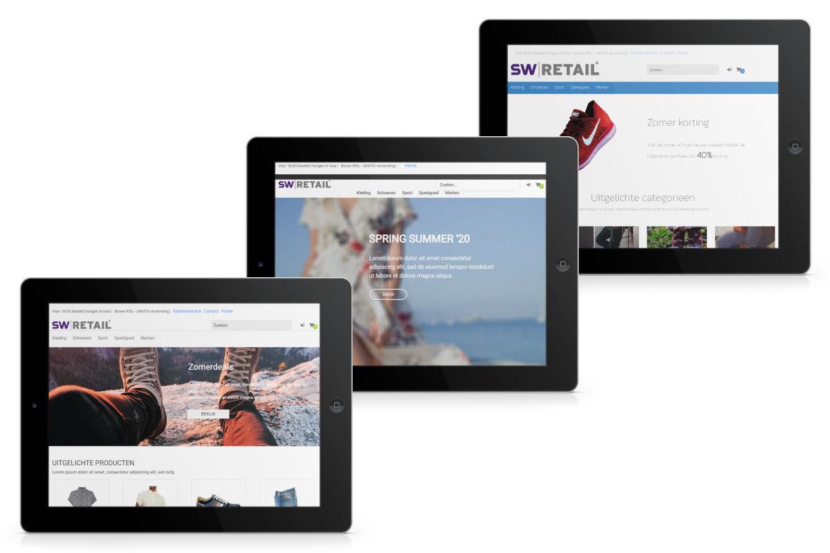 SW-Retail webshop thema's om eigen webshop te beginnen