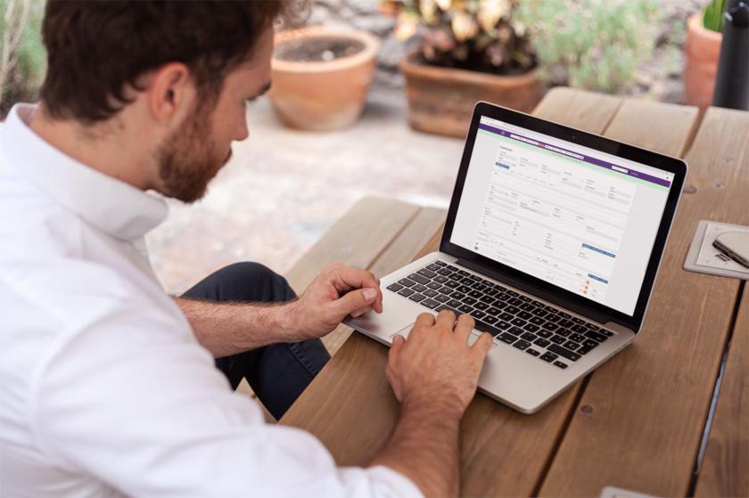 Orderbeheer op laptop