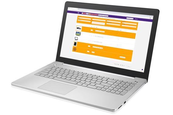 SW-Retail software op laptop