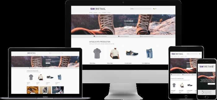 Alle onderdelen van je webshop in één systeem met een SW-Retail webshop
