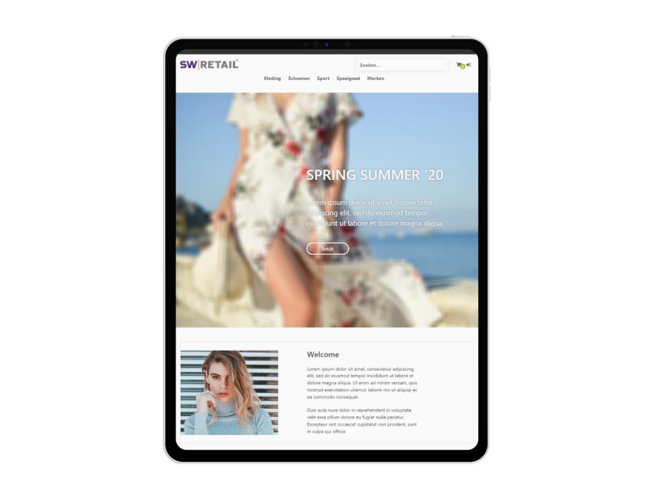 Voorbeeld responsieve thema Summer op tablet/iPad