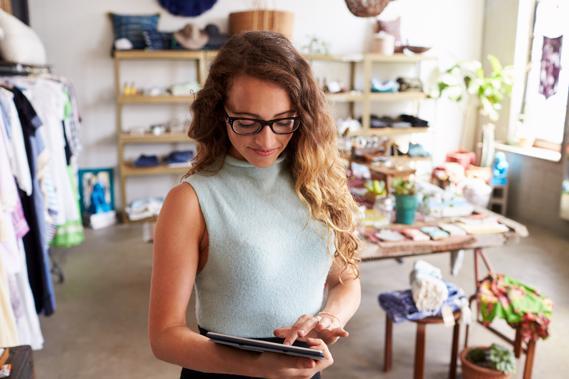 Winkelautomatisering van SW-Retail op tablet