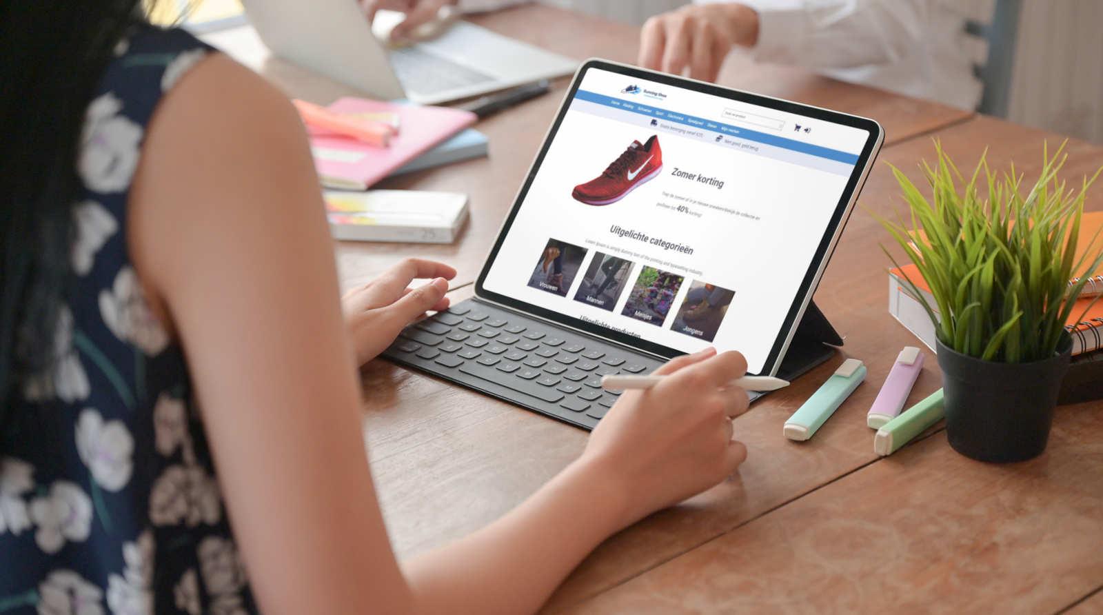 Jouw webshop bij SW-Retail - voorbeeld iPad
